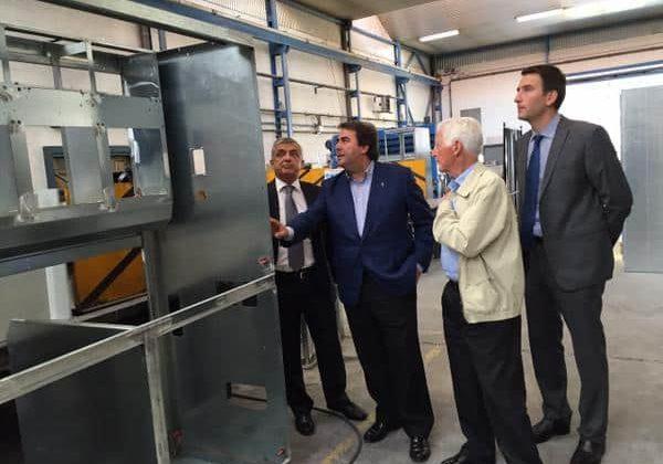 Visita del alcalde de A Coruña a ELINSA