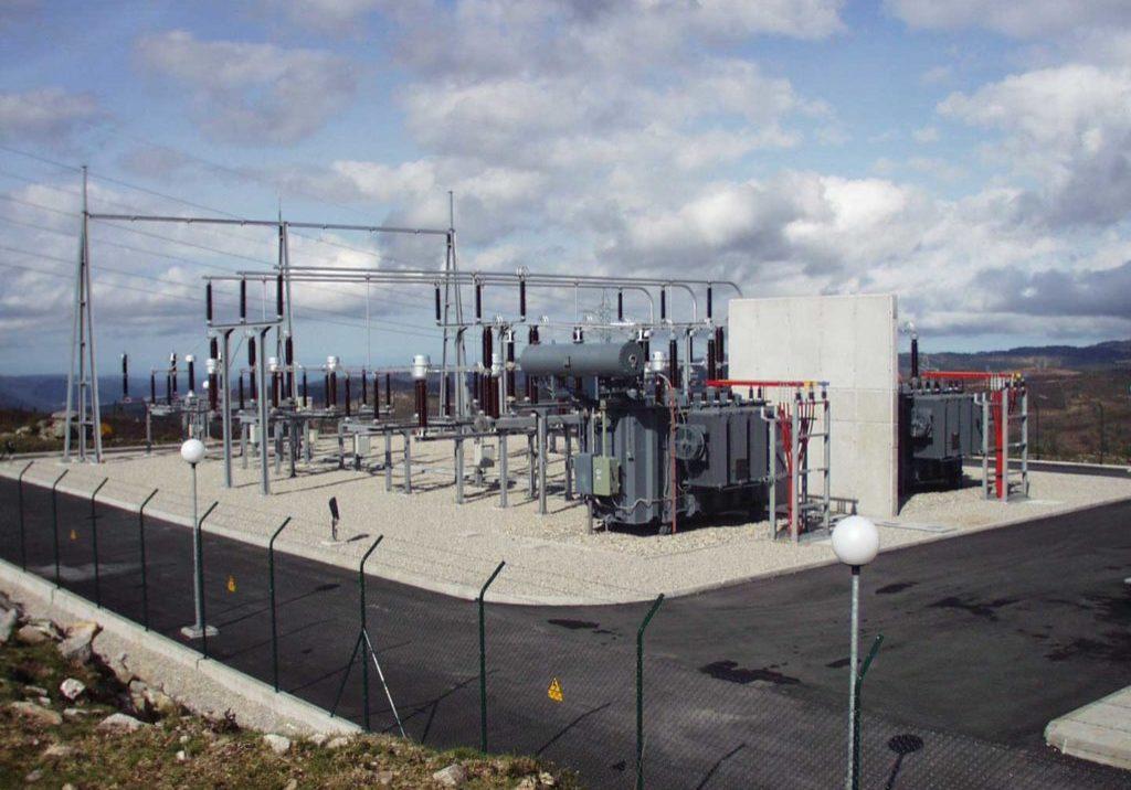 Subestaciones eléctricas. Parque eólico de Pena Luisa